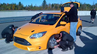 Braun, Goncalvez, New Ford Focus ST-R Set for Barber Test
