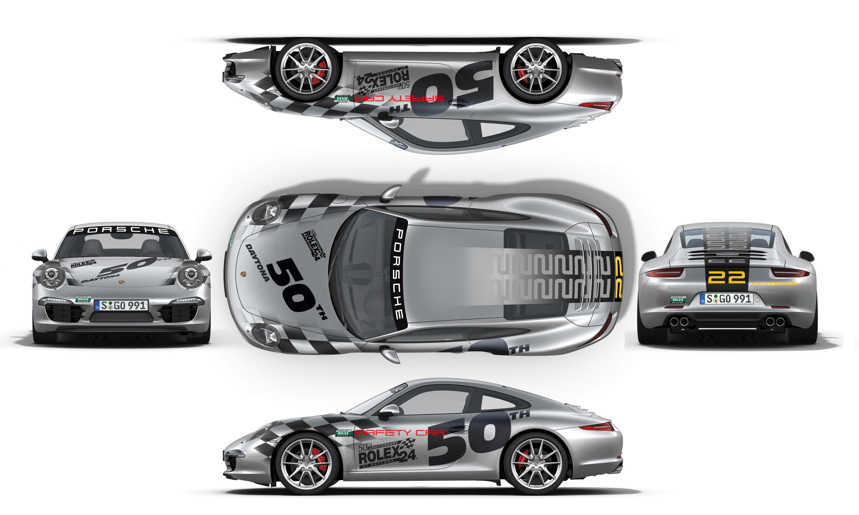 New Seventh-Generation Porsche 911 to Kick Off 50th Anniversary Rolex 24 As Official Pace Car